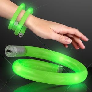 Green Flash LED Wrap-Around Tube Bracelet