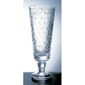 "Diamond Net Vase - Italian Lead Crystal (13 1/2""x5"")"