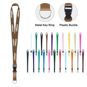 Ring Lanyard with Front Detachable Clip